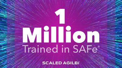 Ya son más de un millón las personas que se han capacitado en SAFe, y es que el gran interés en la agilidad empresarial ha acelerado la adopción del marco (PRNewsfoto/Scaled Agile, Inc.)